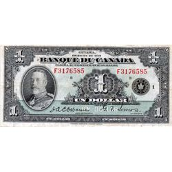 $1.00. 1935 Issue. BC-2. French Text. No. F3176585/B. PMG graded Very Fine-25.