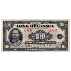 $100.00. 1935 Issue. BC-15. English Text. No. A13637/A. A bright and vibrant Very Fine.