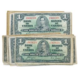 $1.00. 1937 Issue. BC-21c. Gordon-Towers. (47 pcs.); BC-21d. Coyne-Towers. (48 pcs.). Total of Ninet