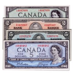 $2.00. 1937 Issue. BC-22c. No. D/R3425907. BSC EF-45; $5.00. 1937 Issue. BC-23b. No. K/C2025170. BCS
