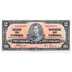 $2.00. 1937 Issue. BC-22c. Coyne-Towers. No. K/R4546559. A Choice Uncirculated note, with Excellent