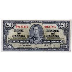 $20.00. 1937 Issue. BC-25a. Osborne. No. A/0139245. PCGS graded Very Fine-25.