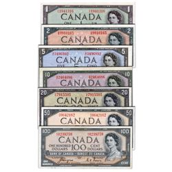$1.00. 1954 Issue. BC-29a. EF-45; $2.00. 1954 Issue. BC-30a. $5.00. 1954 Issue. BC-31a. $10.00. 1954
