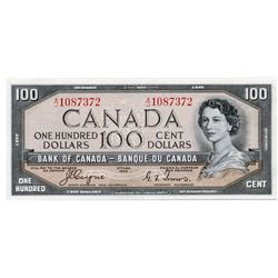 $100.00. 1954 Issue. BC-35a. Coyne-Towers. 'Devil's Face'. No. A/J1087372. PCGS graded Extra Fine-45
