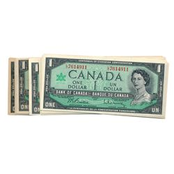 $1.00. 1967 Issue. BC-45a. 1867-1967. (5 pcs.); BC-45b. (41 pcs.). Mixed prefixes. All EF to Unc, av