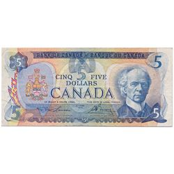 $5.00. 1979 Issue. BC-53aT. Lawson-Bouey. No. 33000034256. PMG graded Very Fine-25. A rare Test note