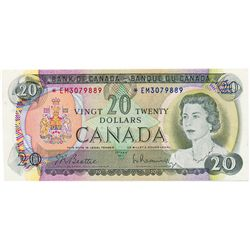 $20.00. 1969 Issue. BC-50aA. No. *EM3079889. CCCS graded AU-50.