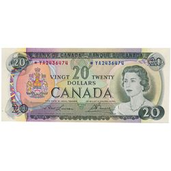$20.00. 1969 Issue. BC-50bA. Lawson-Bouey. No. *YA2436474. CCCS graded AU-58.