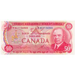 $50.00. 1975 Issue. BC-51aA. No. *HC1126045. Lawson- Bouey. PCGS graded Ch. Unc-64. PPQ.