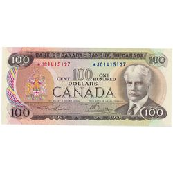 $100.00. 1975 Issue. BC-52aA. No. *JC1415127. Lawson- Bouey. PCGS graded AU-53. PPQ.