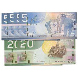 RADAR Motes. $5.00. 2010 Issue. BC-67b & BC-67b-i. No. AAL1196911, AAL1197911, HAB0228220, HAB022922