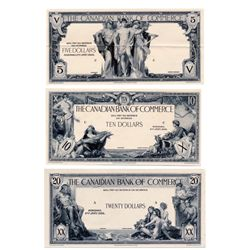 THE CANADIAN BANK OF COMMERCE. Jan. 2, 1935. $5.00, $10.00 & $20.00. CH-75-18-02P. CH-75-18-06P, CH-