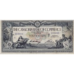 THE CANADIAN BANK OF COMMERCE. $10.00. Jan. 2, 1917. CH-75-16-02-06. No. 223016/A. PMG graded Very F