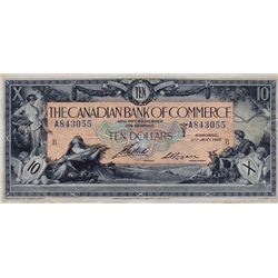 THE CANADIAN BANK OF COMMERCE. $10.00. Jan. 2, 1917. CH-75-16-04-12a. No. A843055/B. Sm. Logan. PMG