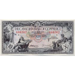 THE CANADIAN BANK OF COMMERCE. $10.00. Jan. 2, 1935. CH-75-18-08. Arscott, right. Type Two signature