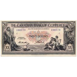 THE CANADIAN BANK OF COMMERCE. $20.00. Jan. 2, 1917. CH-75-16-02-08. White background. No. 180779/C.