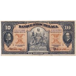 BANQUE D'HOCHELAGA. $10.00. Jan. 2, 1917. CH-360-24- 08. No. 1323200. PMG graded Very Fine-25.