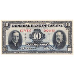 IMPERIAL BANK OF CANADA. $10.00. Jan. 3, 1939. CH-375-24-04. No. E076435/B. PCGS graded Ch. AU-58. T