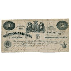 MACDONALD & CO. $2.00. Sept. 6, 1863. CH-420-10-04. No. 2006. Signed Smith-Macdonald. BCS graded Fin