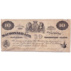 MACDONALD & CO. $5.00. Sept. 6, 1863. CH-420-10-06. No. 823. Signed Thompson-Macdonald. BCS graded F