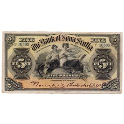 THE BANK OF NOVA SCOTIA, Kingston, Jamaica. Five Pounds. Jan. 2, 1920. CH-550-38-02-08. No. 10595. S