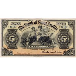 THE BANK OF NOVA SCOTIA, Kingston, Jamaica. Five Pounds. Jan. 2, 1920. CH-550-38-02-08. No. 20157. S