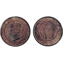 1859, Wide 9/8. ICCS Mint State-65. Red. Believed to be the 'Finest' known example of this rare vari