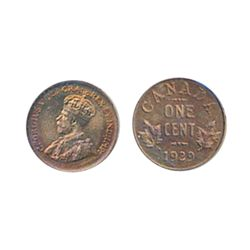 1929. ICCS SPECIMEN-65. 30%/10% red lustre on obverse/ reverse.