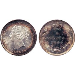 1880-H. Obverse port. #2. ICCS Mint State-65. Brilliant and frosty obverse, with light peripheral to