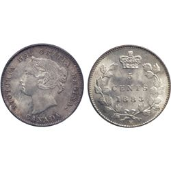 1883-H. PCGS graded Mint State-65. Brilliant, with lightly lustrous silver surfaces and a hint of go
