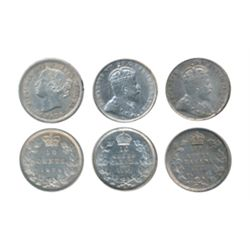 1870. Narrow O. 1903-H. 1908. All ICCS Extra Fine-45. Lot of three (3) coins.