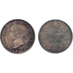 1870. Wide O. PCGS graded Mint State-66. A gem Victorian piece. This example is the '1/1' and '8/8'