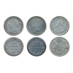 1882-H, 1900, & 1935. All ICCS Very Fine-20. Lot of three (3) coins.