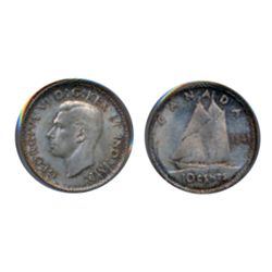 1941. PCGS graded Mint State-63. Light to medium heavy iridescent toning.