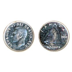 1950. ICCS SPECIMEN-65. A brilliant Specimen. The coin has a cameo contrast, although not mentioned