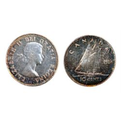 1954. ICCS Mint State-65. Cameo.