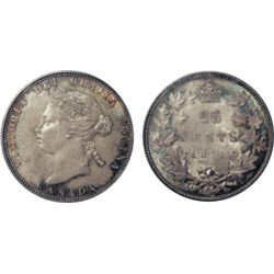 1871. PCGS graded Mint State-65. Intense tones with excellent strike with clean fields and nice surf