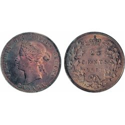 1872-H. Obverse port. #2. ICCS Mint State-64. Attractively toned, with the appearance of a higher gr