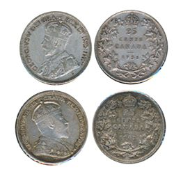 1902. 1936. Lot of two (2) coins, both About Extra Fine.