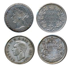 1870. L.C.W., 1946, Design in 6. Lot of two (2) coins, both Very Fine-20 or better.