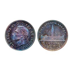1939. PCGS graded Matte SPECIMEN-66. A gem with purple and red rich toning. Another gem.