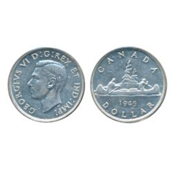 1945. ICCS AU-58. A brilliant, near mint state silver dollar.