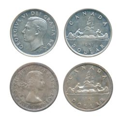 1951. Arnprior. 1957. Both ICCS Mint State-64. Lot of two (2) lightly toned coins.