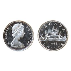 1966. Large Beads. ICCS Proof-Like-66. Ultra Heavy Cameo. Outstanding contrast. A fully brilliant Ge