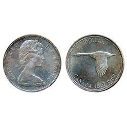 1967. ICCS Mint State-65. Light pale bluish toning. A Gem.