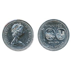 1974. Nickel. Double Yk.#2. ICCS Mint State-65. Scarce in Gem.