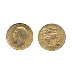 Sovereign. 1919-C. Both ICCS and PCGS graded Mint State- 63. Brilliant golden lustre.