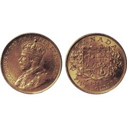 $5.00 Gold. 1914. Both ICCS and PCGS graded Mint State- 63. Excellent fields with very nice lustre.