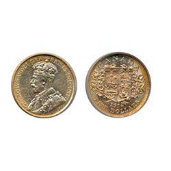 $5.00 Gold. 1914. ICG graded AU-58. Yellow-orange lustre.