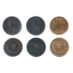 1880. Round O. Low Date. ICCS Fine-15. 1885. Harshly cleaned. Net VF. 1888. ICCS VF-30, (scratches).